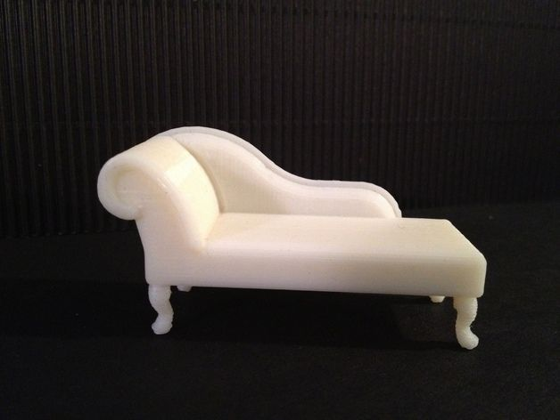 Miniature Queen Anne Chaise Lounge by PrettySmallThings - Thingiverse