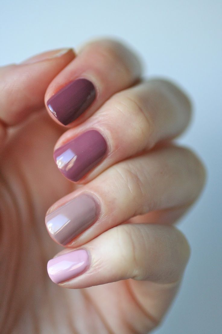 Ombré nails! Essie Mauves : Neo Whimsical, Lady Like, Island Hopping & Angora Cardi | Essie Envy