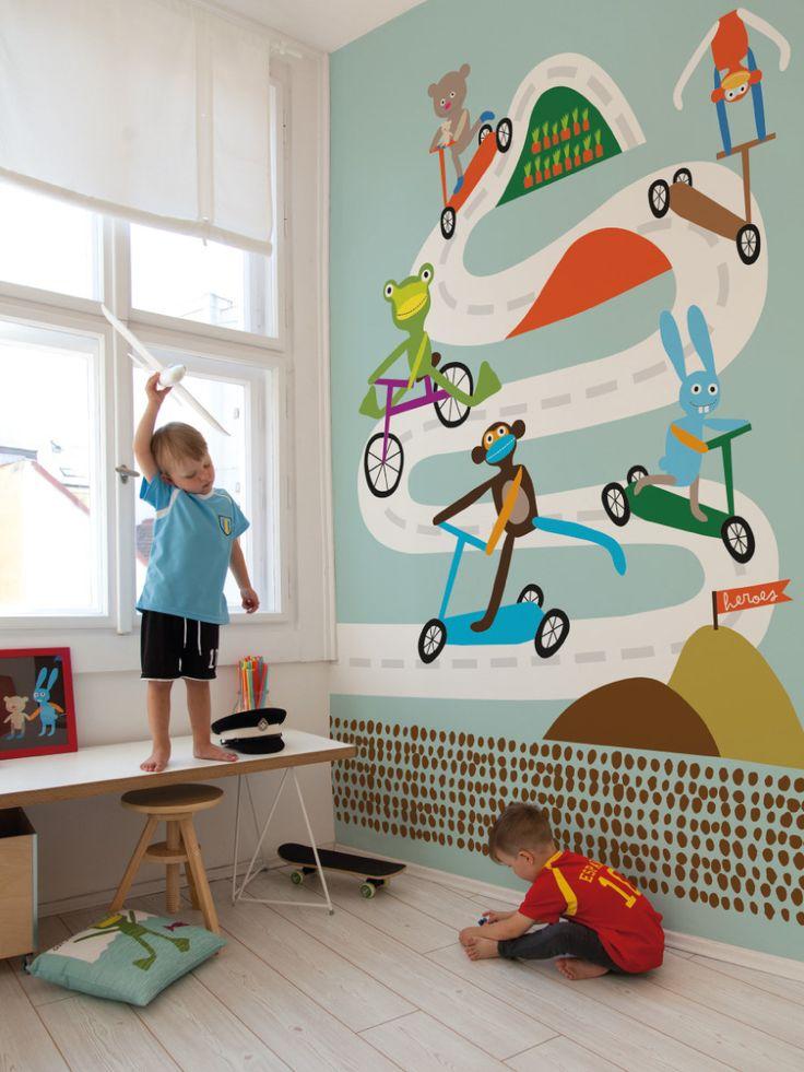Race / non-woven mural / lavmi