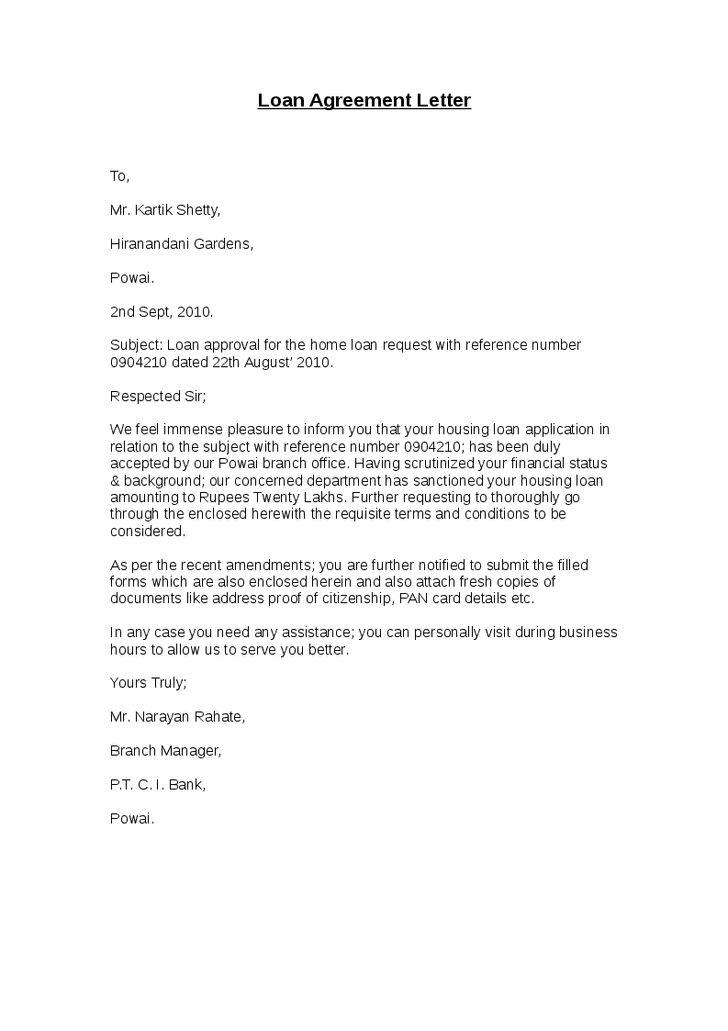 Loan Agreement Letter - Hashdoc - agreement letter
