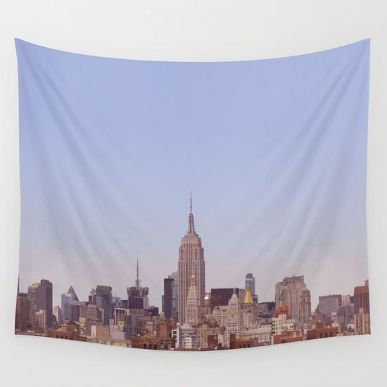 NYC No. 2 Wall Tapestry. #photography #digital #film #vintage #color #architecture #landscape #newyorkcity #newyork #brooklyn #empirestatebuilding #urban #nyc #cities #skyline