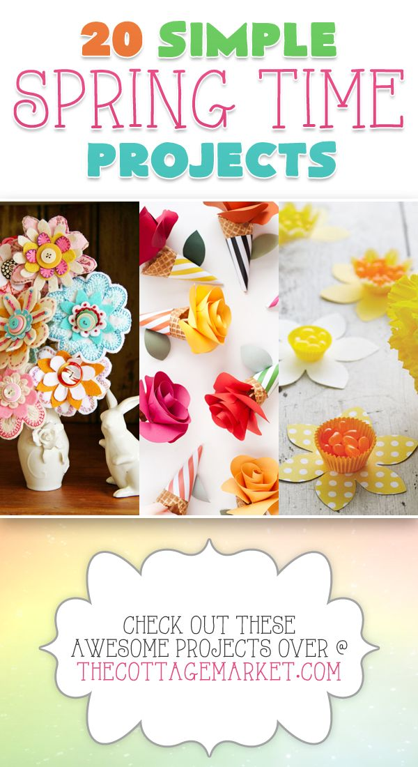 20 Simple Spring Time Projects - The Cottage Market #SpringTimeProjects, #SprintTimeCrafts, #SpringProjects