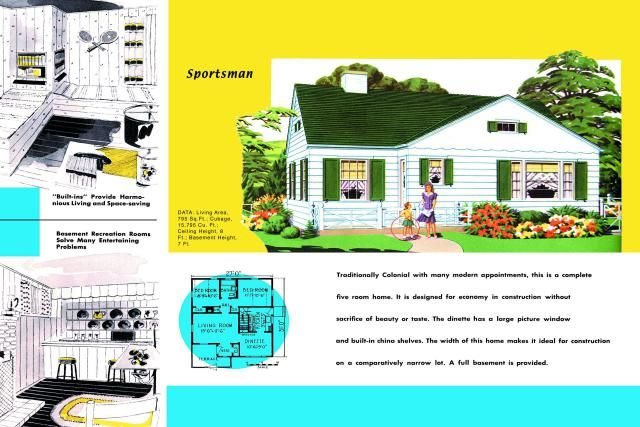"""I know that house! Traditional, yet Minimal Design: """"Sportsman"""" - Minimal Colonial-Like Tradition"""