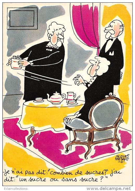 Thème Illustrateur Faizant N° 73 Les vieilles dames - Delcampe.net