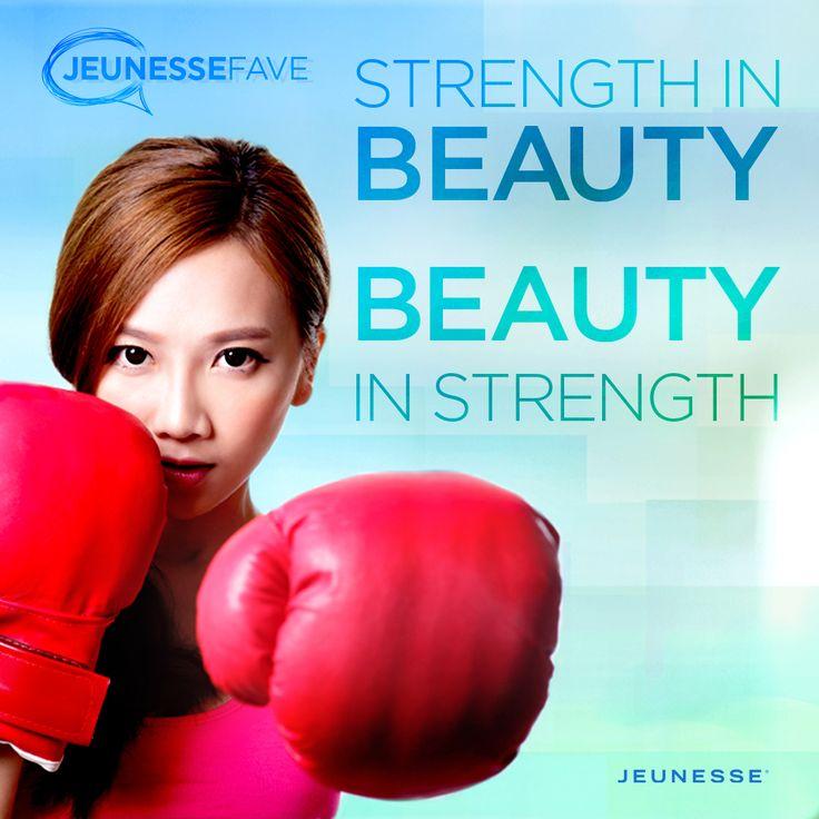 Strength in beauty, Beauty in strength.  - Unknown