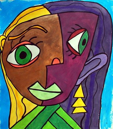 super cubism-y haha...i wish my kids would stretch this much w/their picasso portraits