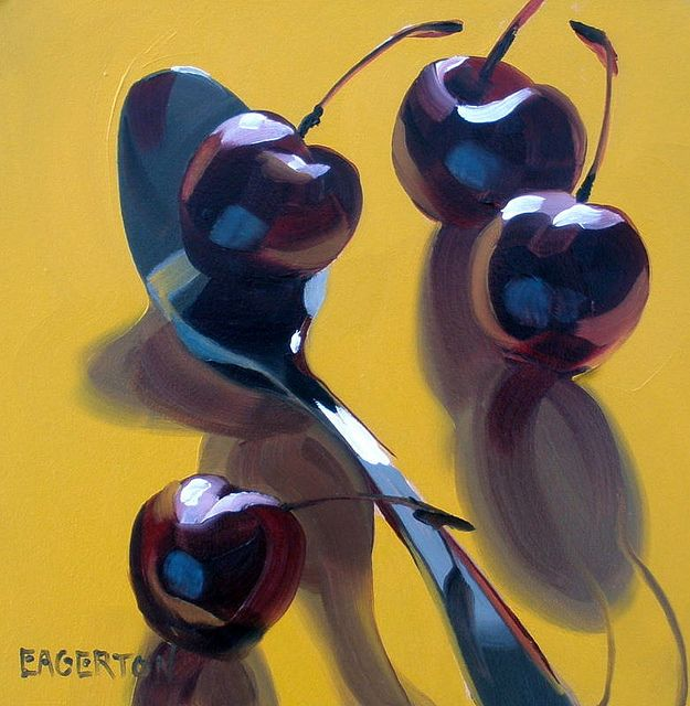"""""""4 cherries with spoon"""" by Leigh-Anne Eagerton"""