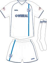 Tranmere Rovers home kit for 2002-04.
