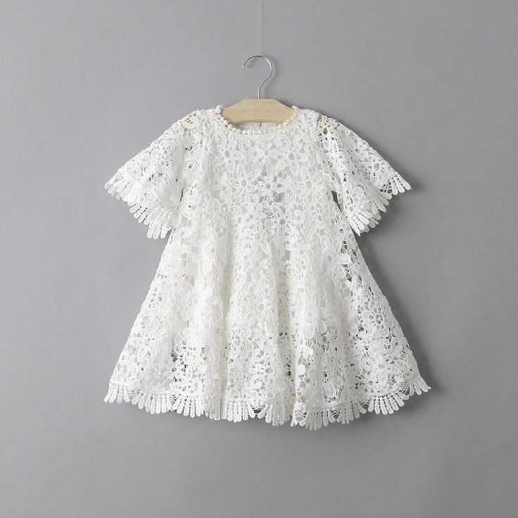 The perfect dress for your boho gal. Crochet bell sleeves and fringe detail set this dress apart from the rest. The waist on the baby sizes is slightly different from the toddler sizes, an elastic wai