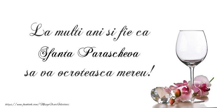 La multi ani si fie ca Sfanta Parascheva sa va ocroteasca mereu!