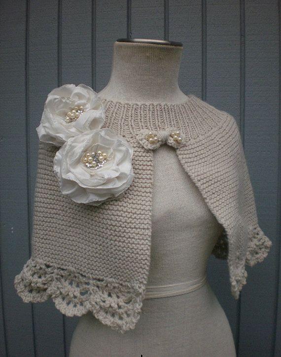 wedding bridal custom order shawl  or   romantic capalet