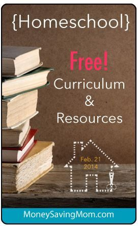 Take a look at this HUGE roundup of FREE Homeschool Curriculum and Resources for the week of February 21, 2014.