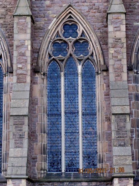 STONE MULLIONS at St. Walburge's Church, Preston, Lancashire , England.