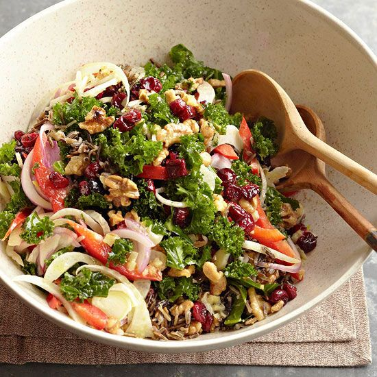 Serve this good-for-you Holiday Kale Salad this season! More fall recipes: Fresh