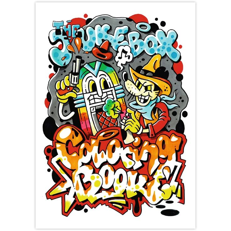 The Jukebox Coloring Book Malbuch
