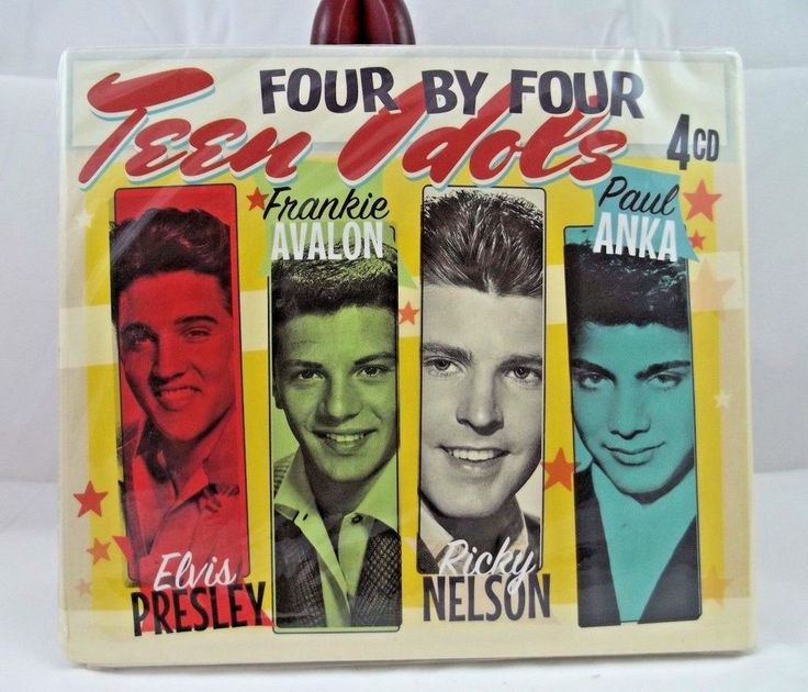 Four by Four Teen Idols 4 CD's  Elvis Frankie Avalon Richly Nelson Paul Anka #1950s1960s