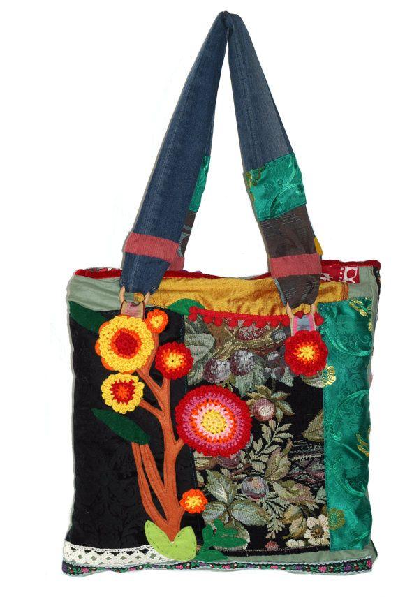 Handmade bag Secret garden di ChiaraForestiArt su Etsy