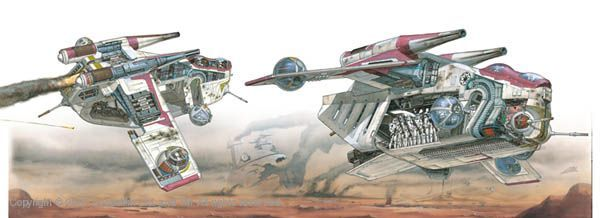 Republic Star Blueprints Wars Gunship