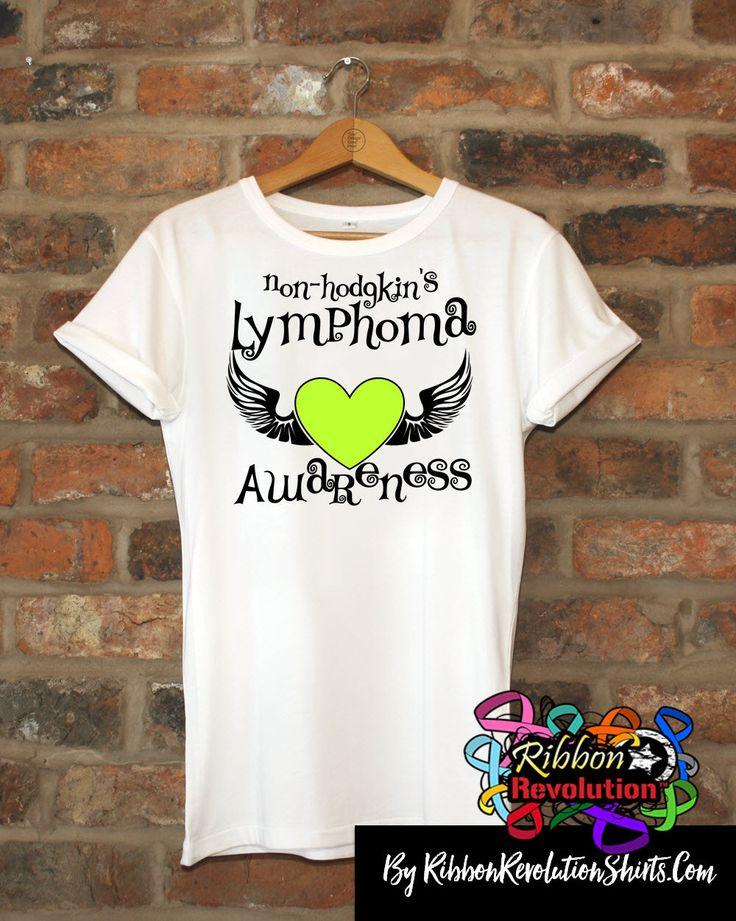 Non-Hodgkins Lymphoma Awareness Heart Tattoo Wing Shirts