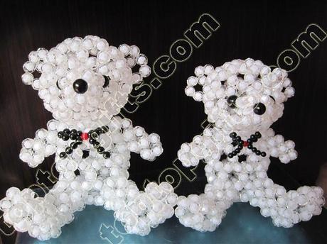 3 D beaded Teddy bear