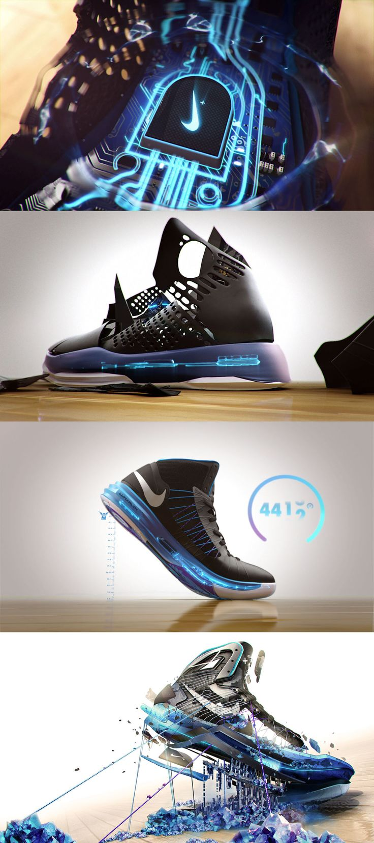 motion graphics/ storyboards/ styleframes | NIKE HYPERDUNK