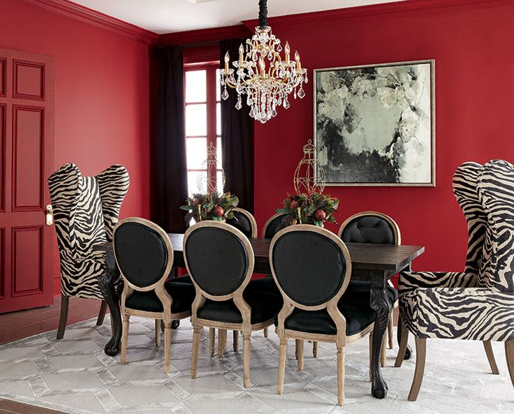 Beau Not Sure About It With The Red Wall   But With A Grey Wall It Would · Black Dining  RoomsModern ...
