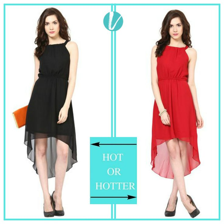 Look gorgeous in these two options of flared dresses available only on Vilara Product codes : 201270(L)  201272(R) #dresses #women #westernwear #premium #vilara
