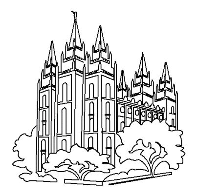 40 Best Images About Seminary On Pinterest Brigham Young Salt Lake Temple Coloring Page