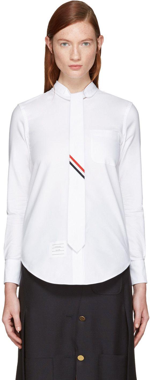 Thom Browne - Chemise noire Necktie
