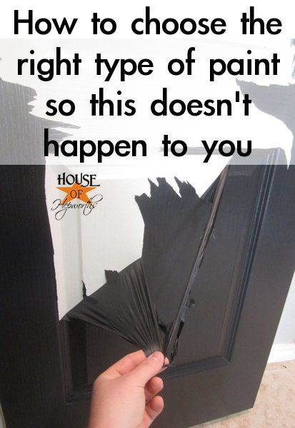 Don't let this happen to you! - Tips for painting trim and doors so you don't end up with peeling paint. How to choose the right paint for the job