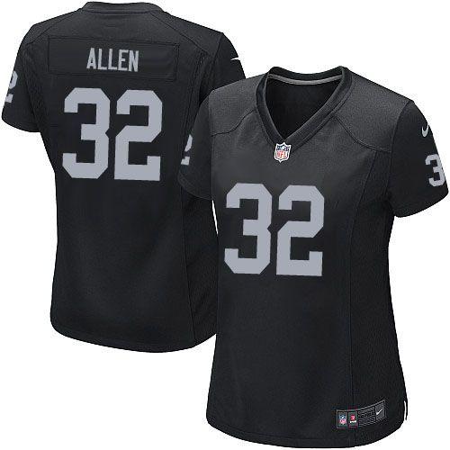 Women Nike Oakland Raiders #32 Marcus Allen Limited Black Team Color NFL Jersey Sale