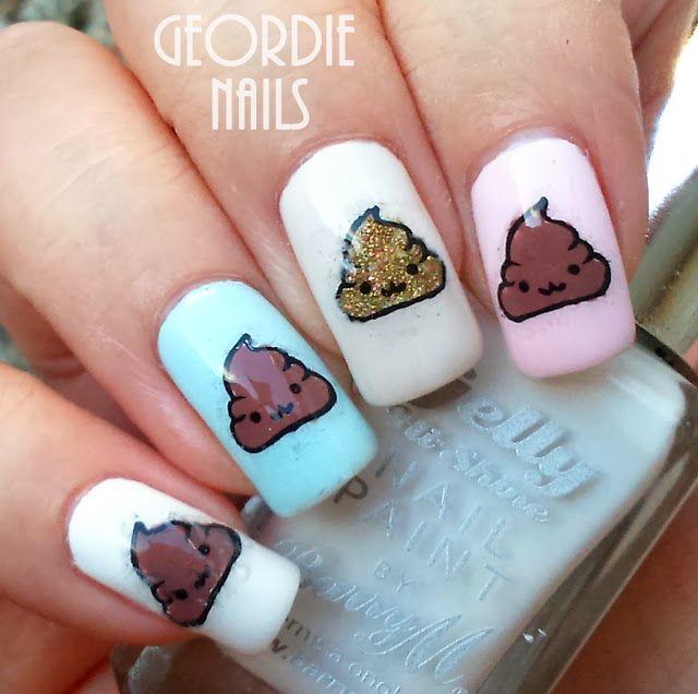 Geordie Nails: Poop Emoji Manicure