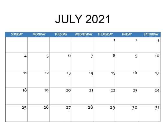 Pin By Printable Calendars On Printable Free Calendar Templates In 2021 Fillable Calendar July 2021 Calendar Calendar Printables