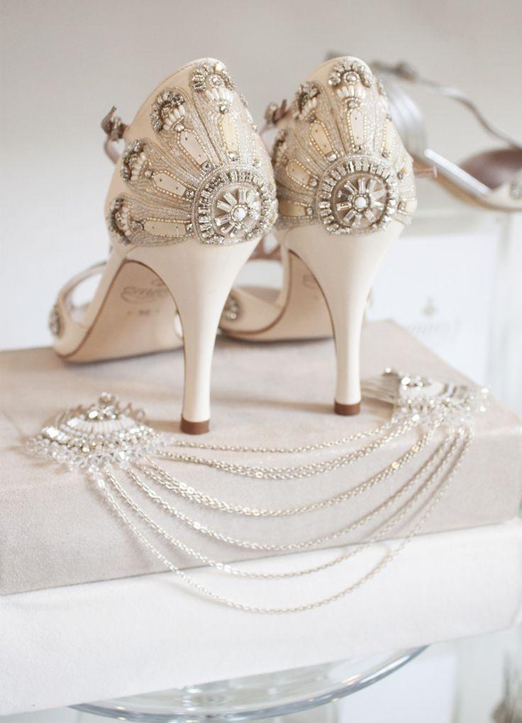149 best bridal styling emmy london images on pinterest bridal emmy london francesca bridal shoes and double fan drape wedding hair decoration emmylondon junglespirit Image collections