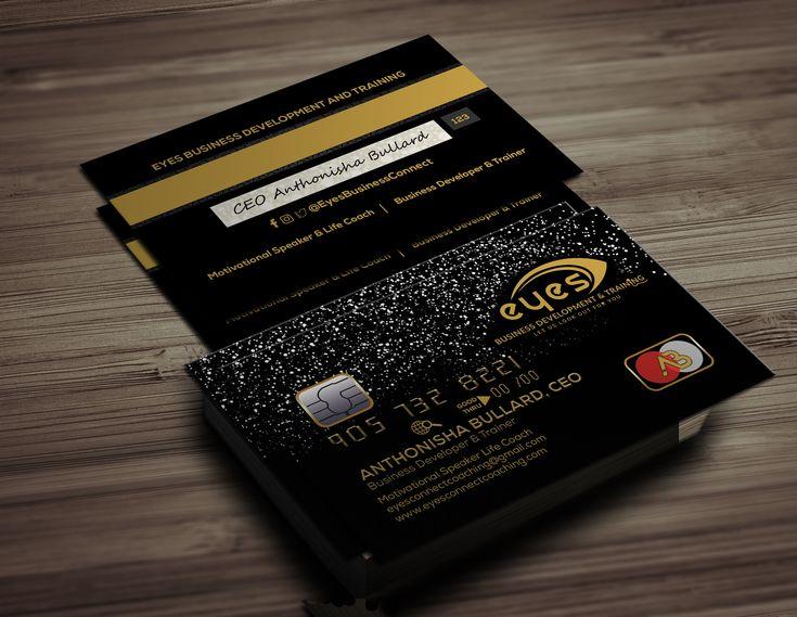 black credit business card templates psd  business card