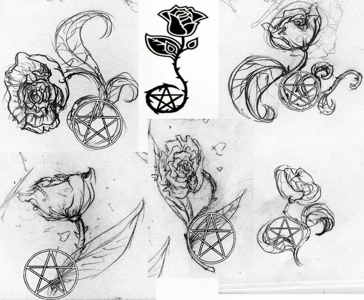 Wiccan Pentagram Tattoo Designs 40617 Loadtve