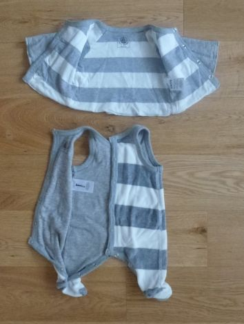 Ensemble & Combinaison pantalon PETIT BATEAU Gris et blanc