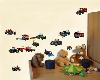 Elegant  teiliges Traktor Maschinen Riesen Wandtattoo Set teiliges Traktor Maschinen