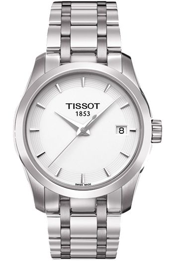 #Tissot Courturier #Ladies White Quartz #watch #fashion