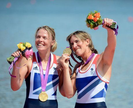 Anna Watkins and Katherine Grainger storm to Olympic gold in the Women's Double Sculls event.  The duo kicked off an unforgettable day for Team GB, soon to be labelled Super Saturday.