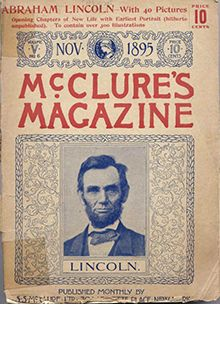 McClure's Magazine, (American - November, c.1895. Image of, U.S. President Abraham Lincoln, pictured on cover. ~ {cwl}
