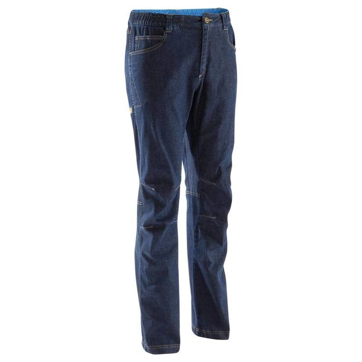 GROUPE 3 Escalade, Alpinisme, Canyoning - PANTALON JEAN HOMME 2 BLUE SIMOND - Chaussons, vêtements, casques