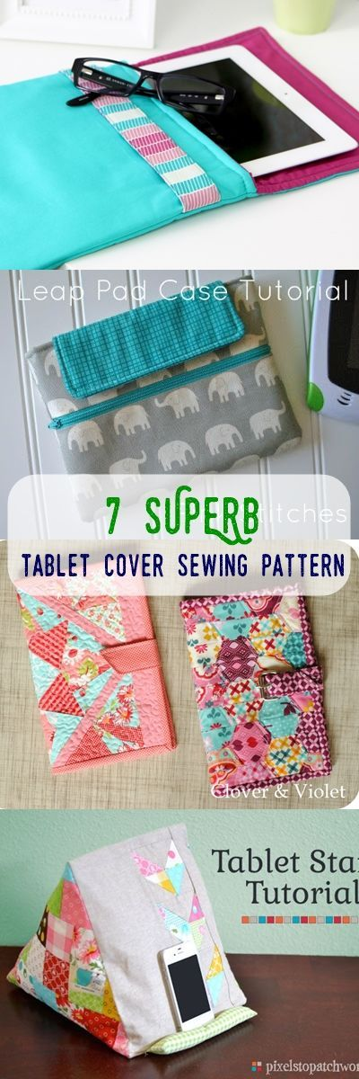 tablet sewing patterns | tablet cover tutorial | how to sew a tablet cover