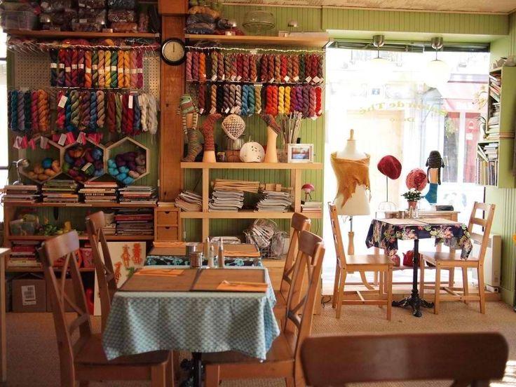 A yarn shop and tea house in Paris: http://www.loisivethe.com/