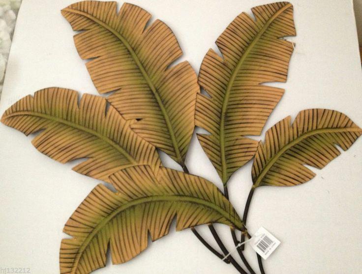 Banana Palm Leaves Decorative Metal Wall Art Tropical