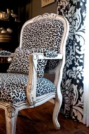 leopard prints leopards and french chairs on pinterest. Black Bedroom Furniture Sets. Home Design Ideas