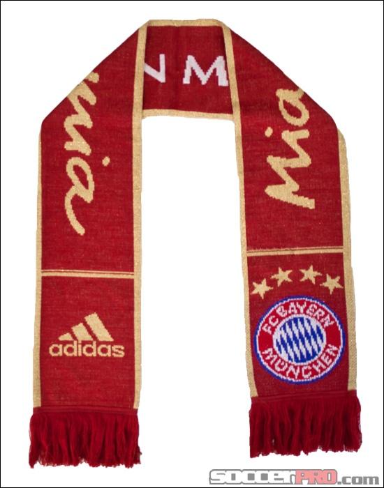 adidas Bayern Munich Scarf - Red with Metallic Gold and White...$17.99