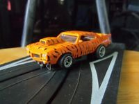 "Custom 69 Pontiac GTO ""Tiger"" Pro Street HO Slot Car 4 Gear"