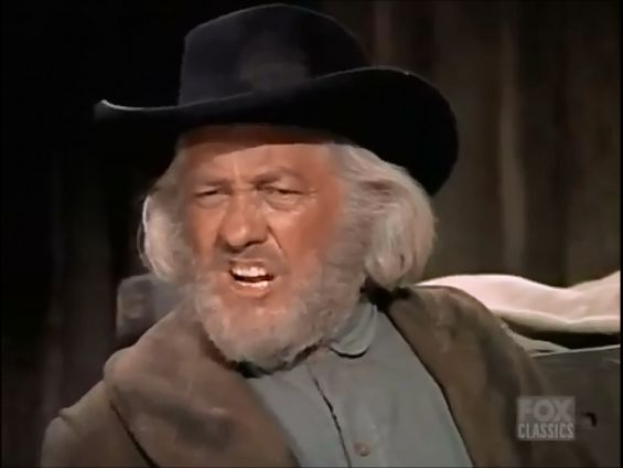 Strother Martin as Cole Younger on Bonanza (The Younger Brothers' Younger Brother)