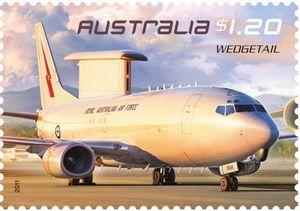 Sello: Wedgetail (Australia) (Air Force Aviation) Mi:AU 3526,Sn:AU 3415,Yt:AU 3403,Sg:AU 3554